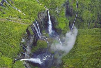 Waterfalls from air