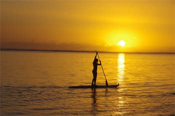 Stand up Paddle Lagoon Reunion island