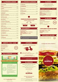 Menu du Sergio Burger