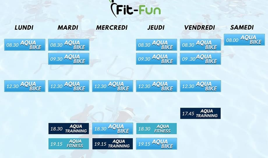 Schedule Aquabiking FitFun