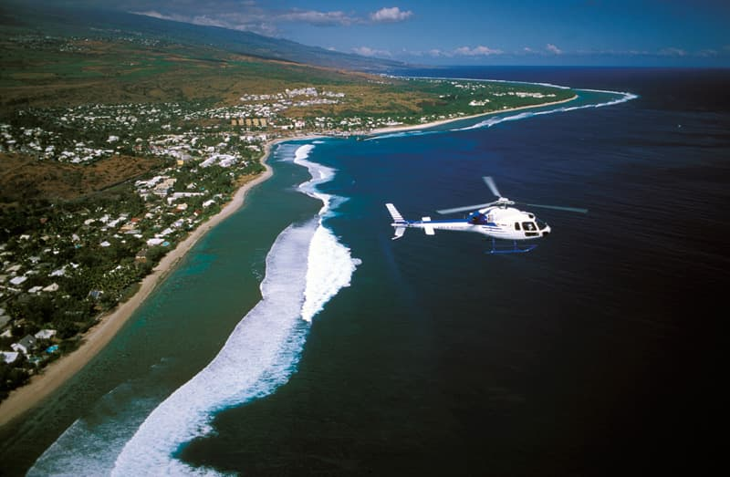 Helicopter in reunion island