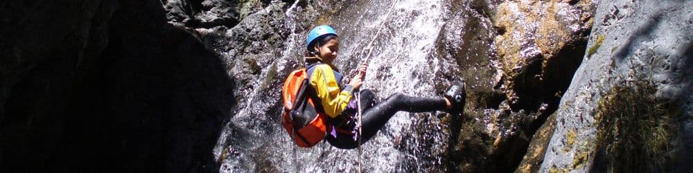 Canyoning  Rock climbing in Reunion Island