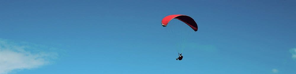 Paragliding first flight tandem Reunion island