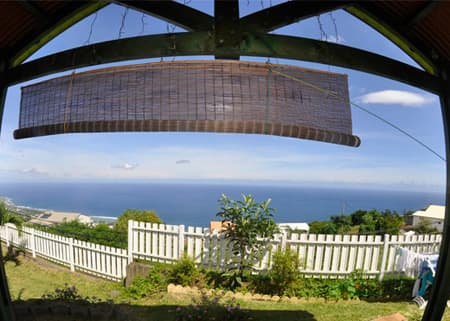 View fron terrace Cottage Nid tropical