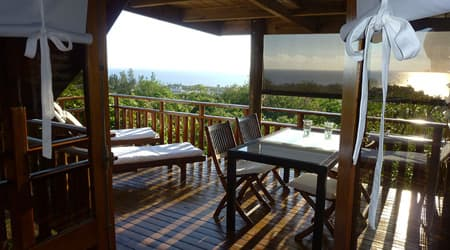 View from the terrace of Lodge Vetyver