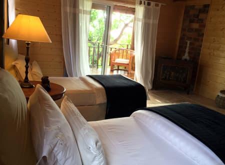 Twin bedroom in Lodge Vetyver