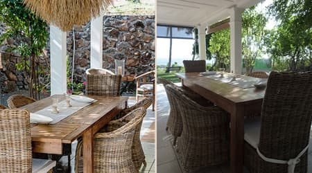 Dining corner under the verandah