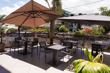 The outside terrace