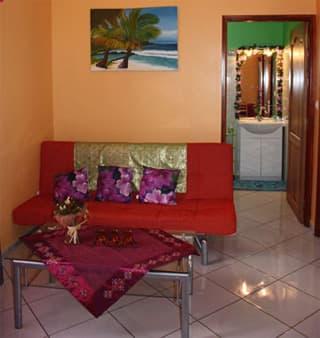 Caze Zanzibar - Coin salon - canapé lit