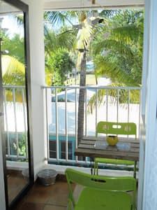 balcony of the living room