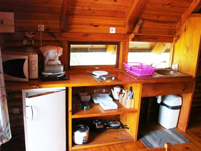 kitchen of a small cottage
