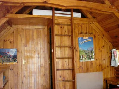 mezzanine´s access of a small cottage