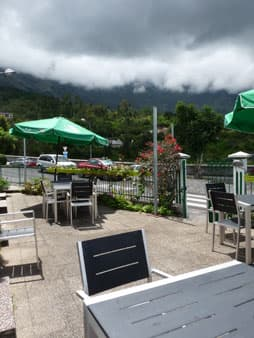 The terrace of the restaurant