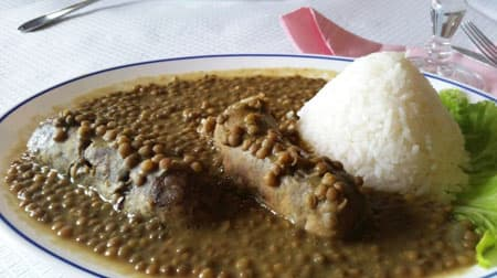 Sausages with lentils