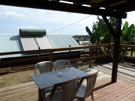 Terrasse d'un bungalow