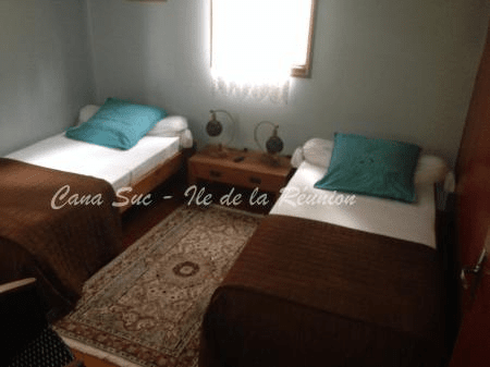 Chambre twin Gîte Bleu Teck