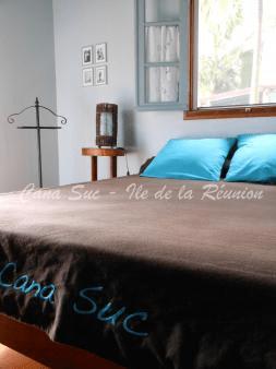 Chambre double Bleu Teck