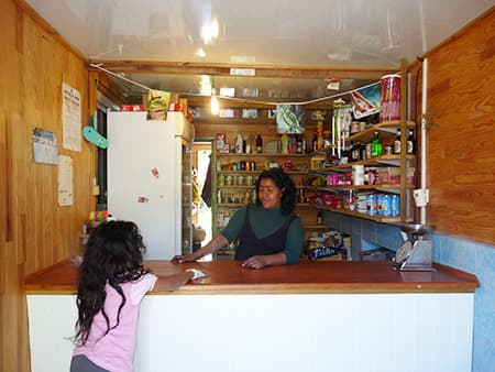 Marie-Annick in her shop