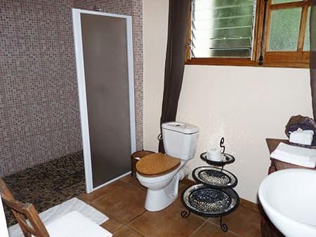 The studio's bathroom
