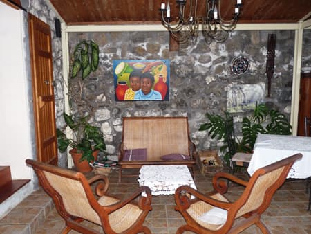 The Creole lounge under the verandah