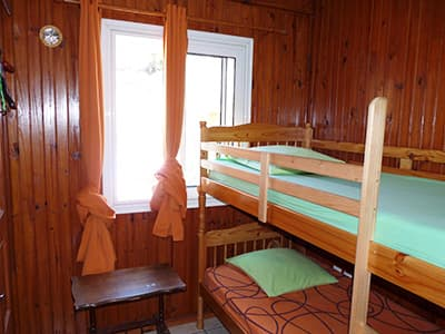 Bunk beds in the quadruple bedroom