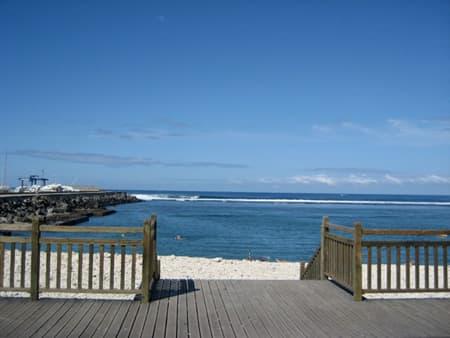 Accès à la plage de St Pierre