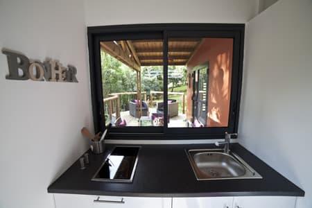 Vue depuis la cuisine - L'Hibiscus