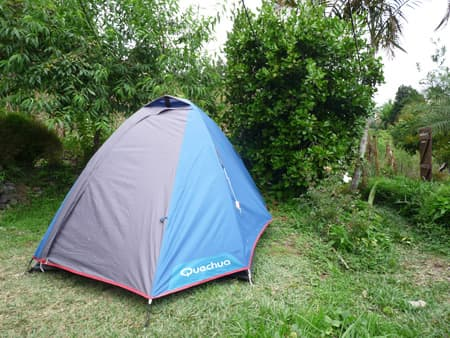 Possibilité de planter sa tente