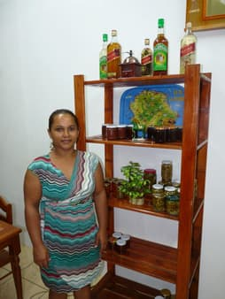 Lucinda and her homemade products