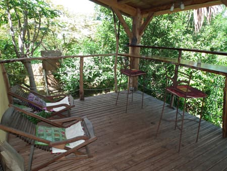 Terrace in the Villa Mango Ecolodge