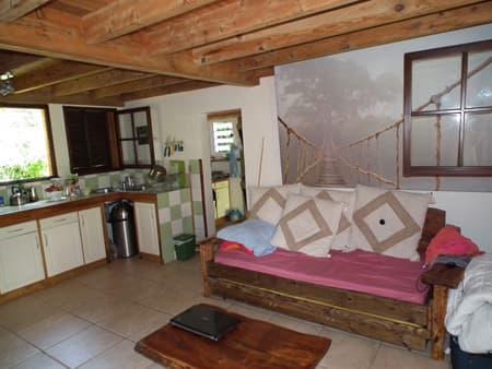 Salon séjour et cuisine Villa Mango Ecolodge
