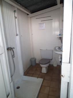 Salle d'eau commune chambre et paillottes