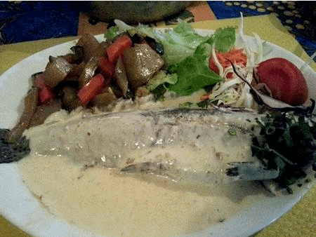 Trout with ginger sauce