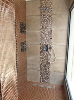 The shower in villa Sublime