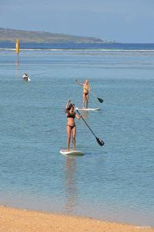 Stand up paddle sur le lagon