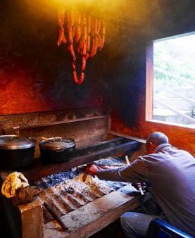 Homemade smoked sausages