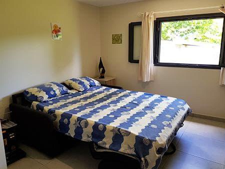 Le canapé-lit du Ti Jamblos, version lit
