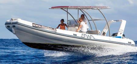 Semi rigid boat for 20 persons