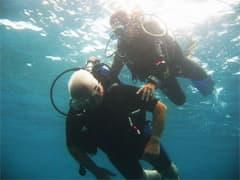 bubble air baptism dive