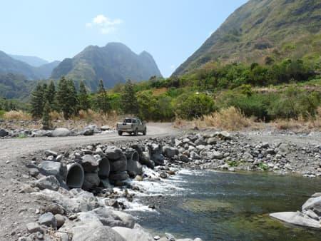 Trajet dans la Rivière des Galets