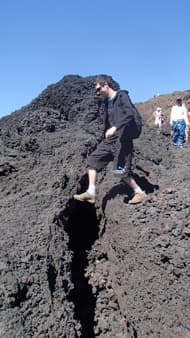 Expedition on the volcano