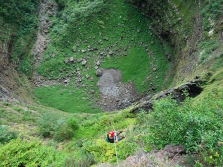 Canyon et tunnel de lave de Grande Ravine