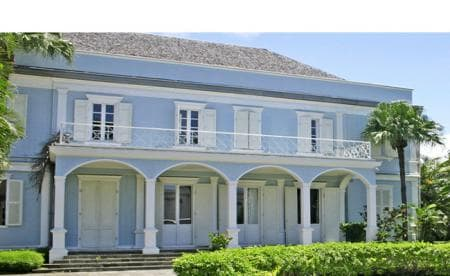 Beautiful Creole mansions in Rue de Paris