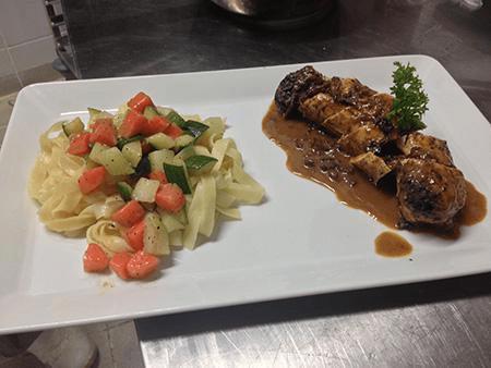 Beef estoufade in Cilaos wine