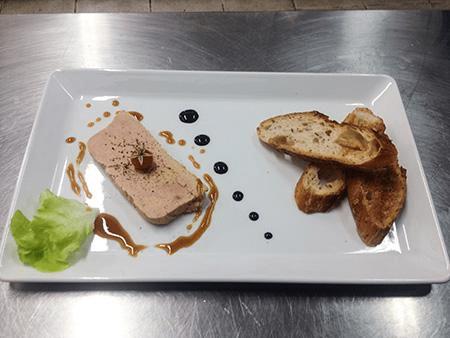 Assiette de foie gras au vin blac moelleux de Cilaos