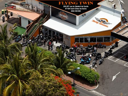 Welcome to the Flying Twin Harley Davidson shop in St. Gilles!