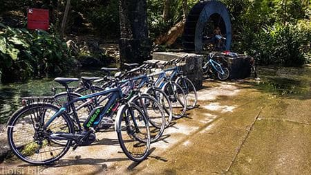 Ride to the watermill in Tour des Roches